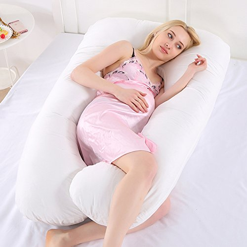 153 cm x 97 cm Perfek Night Pregnancy Pillow Knees /& Legs Extra Long Full Body Maternity Pillow Supports Back 100/% Luxury Quality Cotton Cover U Shaped for Comfortable Side Sleeping