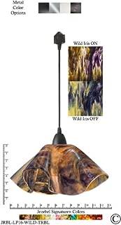 product image for Jezebel Signature Lily Track Lighting Pendant Large. Hardware: Black. Glass: Wild Iris