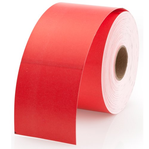 """Dymo 30374R Compatible Red Appointment Cards 2"""" x 3-1/2"""" - 300 Cards Per Roll"""