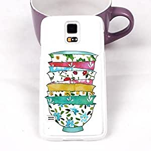 HJZ Beautiful Color Bowl Plastic Hard Back Cover for Samsung Galaxy Note 4