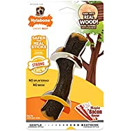 Nylabone Maple Bacon Real Wood Strong Dog Stick Chew Toy, Natural, 1 Count/Wolf