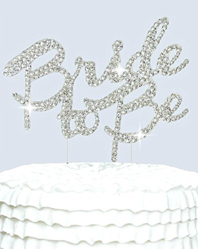 Lulu Sparkles LLC Bride To Be Cake Topper in crystal Rhinestones Bridal shower Bachelorette Party Cake decoration Bride to Be (Bachelorette Crystal)