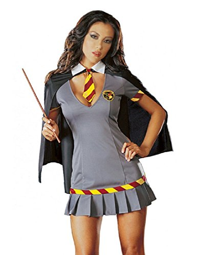 Dreamgirl Women's Wizard Costume, Grey, 1X/2X ()