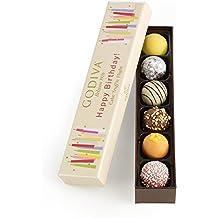 Godiva Chocolatier Happy Birthday Cake Chocolate Truffle Flight, 6 Count Gift Box