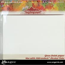 Ranger TAC30027 Tim Holtz Adirondack Alcohol Ink Cardstock, 4-1/4-Inch by 5-1/2-Inch, 20-Pack