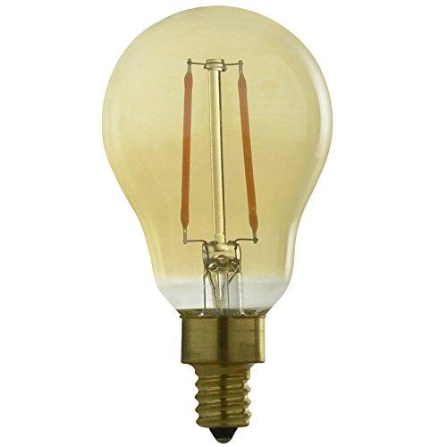 Kichler Globe 40W Candelabra base Equivalent 2.5w Dimmable Amber a15 Vintage LED Decorative Light Bulb Vintage Antique Style Light (Kichler Incandescent Candle)