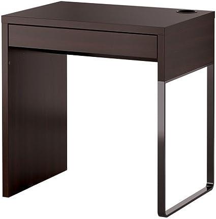 Ikea MICKE - Escritorio, Negro-marrón - 73x50 cm
