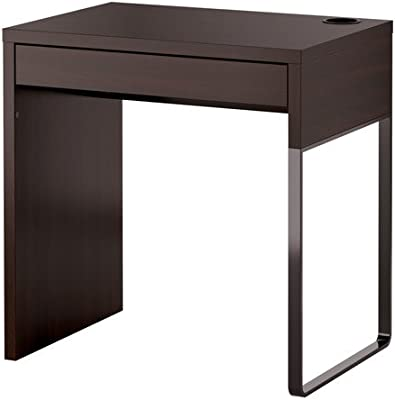 Ikea MICKE - Escritorio, Negro-marrón - 73x50 cm: Amazon.es ...