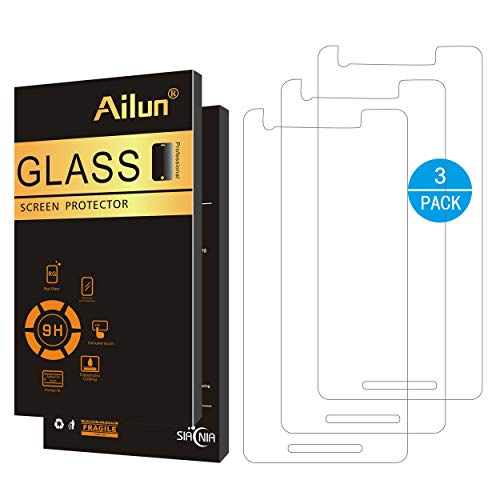 Ailun Screen Protector for Google Pixel 2 [5inch][3Pack],Tempered Glass,9H Hardness,Ultra Clear,Bubble Free,Anti-Scratch&Shatter&Fingerprint&Oil Stain,Case Friendly