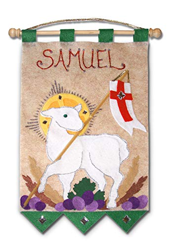 First Communion Banner Kit - 9 x 12 - Lamb - Green]()