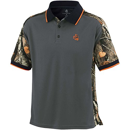 Legendary Whitetails Big Game Pro Hunter Performance Polo Charcoal XX-Large