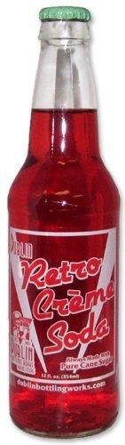 Retro Soda Sweetened with Pure Cane Sugar 12oz Glass Bottles (Pack of 24) (Dublin Retro Red Cream Soda) by Dublin Bottling (Cream 12 Oz Glass)