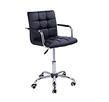 Homcom PU Leather Height Adjustable Office Computer Chair 360 Degree Swivel  Chair With Chrome Base And
