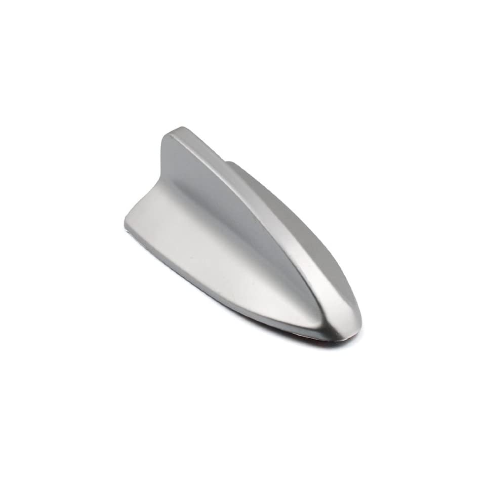 1 pc Euro Style Custom Decorative Dummy Silver Tone Roof Top Shark Fin Antenna 3M Stick On Trimming Trim For VW Fiat Volvo BMW Audi Ford GMC Chevrolet Buick Car Sedan Coupe Vehicle