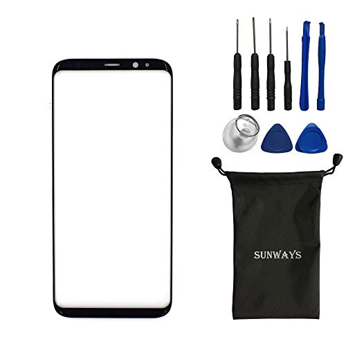 sunways Outer Glass Lens Screen Replacement for Samsung Galaxy S8+ S8 Plus G955F G955FD G955W G955A G955P G955T G955V(6.2)