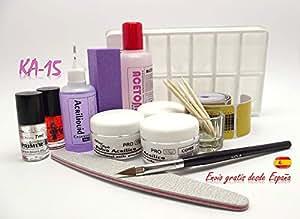 Kit uñas acrilicas, Certificados CPNP, Productos de alta calidad: Amazon.es: Belleza
