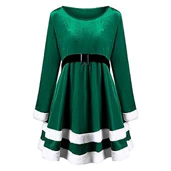 Christmas Plus Size Velvet Long Sleeve Dress