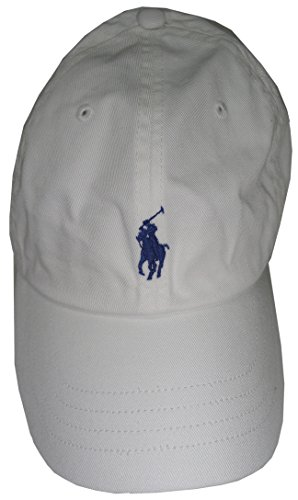 Polo Ralph Lauren Mens Pony Logo Baseball Cap Hat One Size White