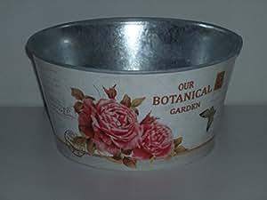 Flores Maceta Maceta flores Carcasa rígida de zinc Diseño Botanical