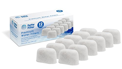 Fette Filter - Coffee Machine Premium Water Filters Compatible with Breville. With Ion Exchange Resin for BWF100 (12-Pack)