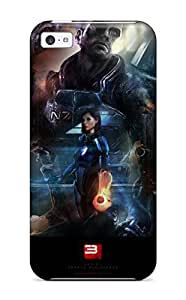 Iphone 5c Case Cover - Slim Fit Tpu Protector Shock Absorbent Case (mass Effect)