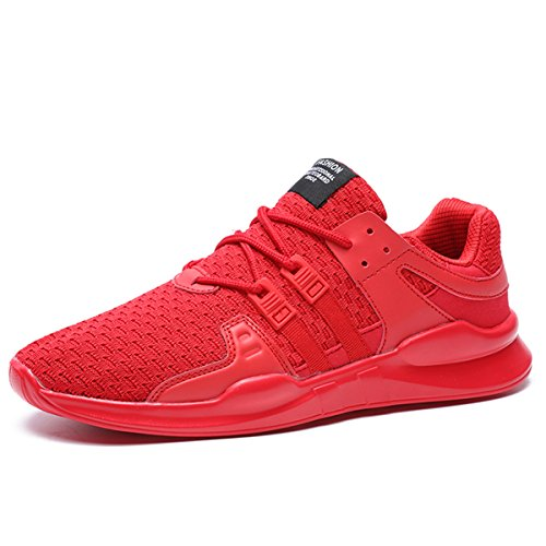 Red New Athletic Fashion Shoes Sports Men Sneakers Breathable Casual JACKSHIBO w8zTnEq