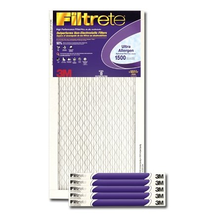 Filtrete Ultra Allergen Reduction Air Filter [Set of 6] Size: 30'' H x 14'' W x 1'' D by 3M