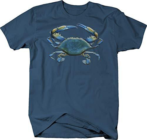 Blue Crab Deep Sea Ocean Fishing Seaside Fish Aquatic Sand Beach Tshirt - 2XL