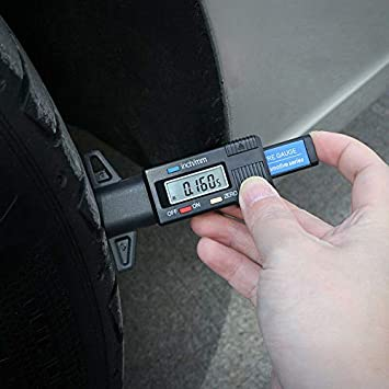 elegantstunning Digital Car Tire Depth Meter Caliper Gauge Shoe Roller Thickness Gauges Monitoring System