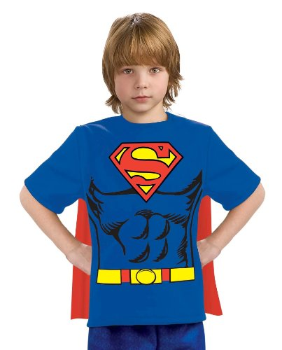 Price comparison product image Justice League Child's Superman 100% Cotton T-Shirt - Large