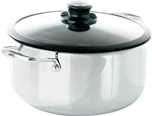 Frieling BC528 Black Cube Hybrid Stainless/Nonstick Cookware Stockpot with Lid, 7.5 Quart, 11-Inch