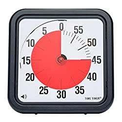 Time Timer Original 12 inch; 60 Minute Visual Timer - Classroom Or Meeting Countdown Clock for Kids and Adults (Black)