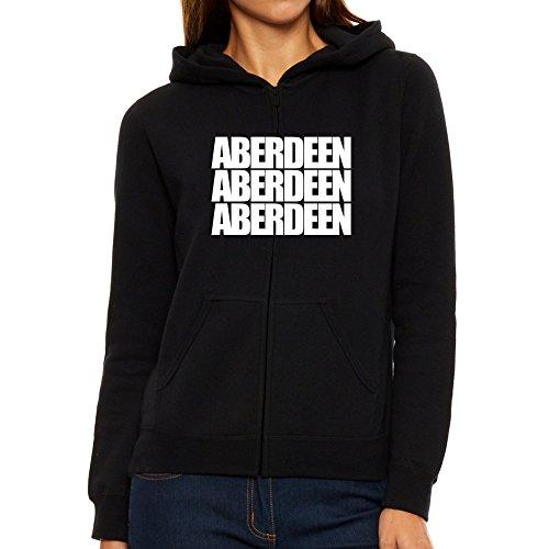 Aberdeen Aberdeen Aberdeen Felpa Eddany con con con con donna words three cappuccio da 1wwqInHtdr
