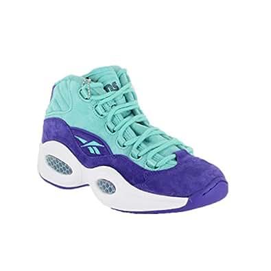 Reebok Men's Question Mid Classic Shoe Teal/Purple/White 7.5 D(M) US