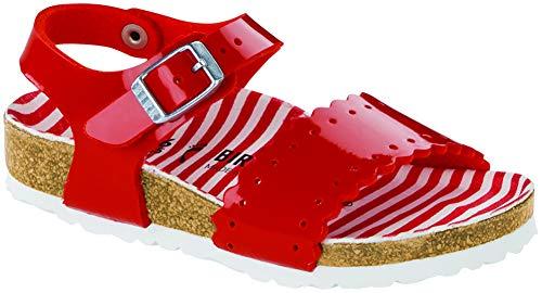 Birkenstock Kids Risa Sandal Stripes Red Birko-Flor Size 26 N EU / 8.5 N US Toddler]()