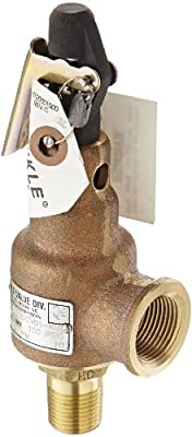 """Kunkle 6010DCV01-KM0150 Bronze ASME Safety Relief Valve for Air/Gas, Viton Soft Seat, 150 Preset Pressure, 1/2"""" NPT Male Inlet x 3/4"""" NPT Female Outlet from Tyco Valves & Controls"""