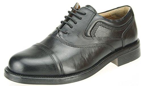 Oaktrak Stonebridge Oxford Gap Schwarz Leder Schuhe Spitze Bis Herren Schuhe Schwarz