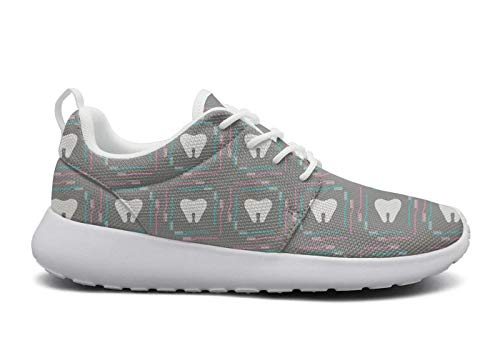 Tooth brushes and teeth vector image grey Running Shoe Sneakers Mens Shoes