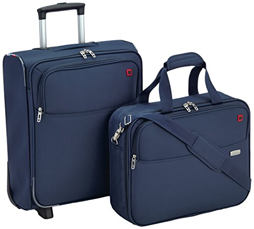 American Tourister Atlanta Cabin Fit 2 PC Set A Bagaglio da Cabina con Porta PC e Laptop, 58 litri, 50 cm, Blu