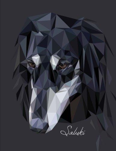 Saluki: Dog Notebook (Journal), Large, Black