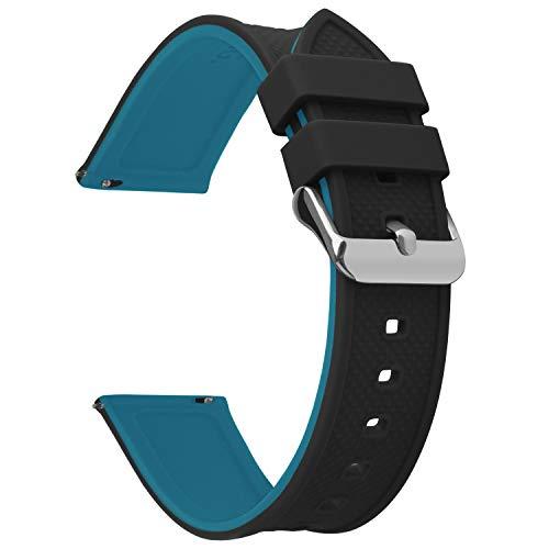 🥇 Fullmosa 8 Colores Correa de Reloj de Silicona de Liberación Rápida