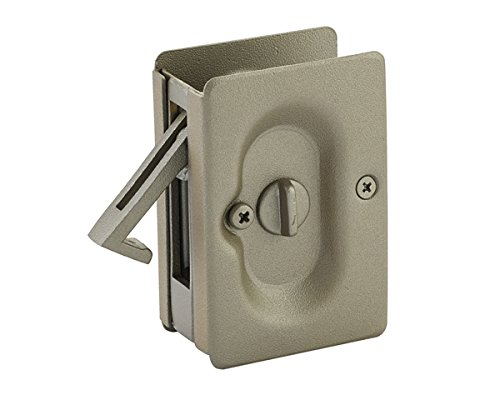 Emtek Pocket Door Privacy Lock Set, Polished Nickel ()