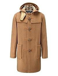 Mens Classic Fit Long Duffle Coat Camel