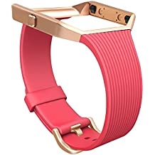 For Fitbit Blaze Slim Bands, GHIJKL TPU Replacement Sport Strap with Frame for Fitbit Blaze Smart Fitness Watch, Large Small