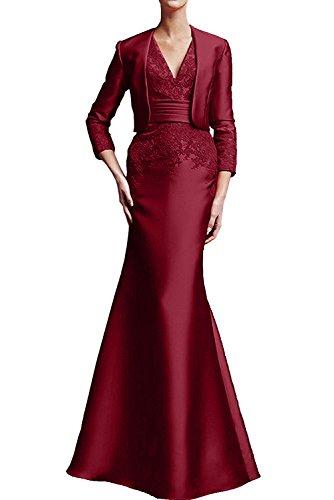 Topkleider - Vestido - para mujer borgoña