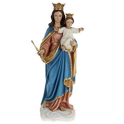 Holyart Mary Queen of Heaven with Infant Jesus,Fiberglass Statue 80 cm