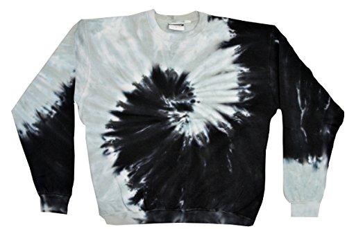 Colortone Tie Dye Sweatshirt XL Spiral Black