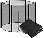 Trampoline Safety Net, Durable Safety Nylon Trampoline Protection Net of Trampoline Shell, Can Replace Differe