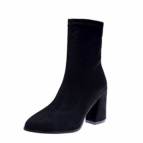 Martin EUR Bottes Scrubs Femmes Bottes noir à Boots Talons Femmes Chaussures Bottes 37 Simples de Courtes Hauts Rough amp; Bottes xHBgnv1B