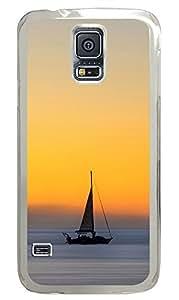 Samsung Galaxy S5 Wind Sail Boat Ocean Sunset Ios7 PC Custom Samsung Galaxy S5 Case Cover Transparent